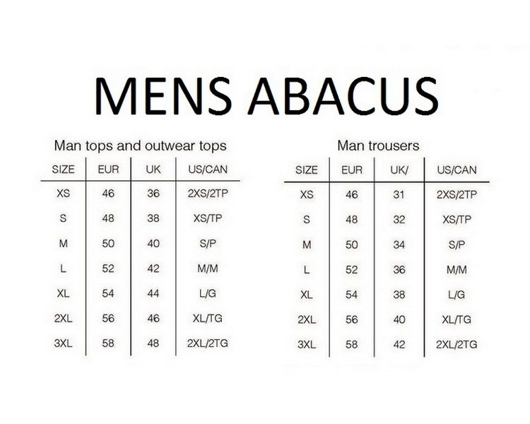 38++ Abacus golf size guide ideas in 2021