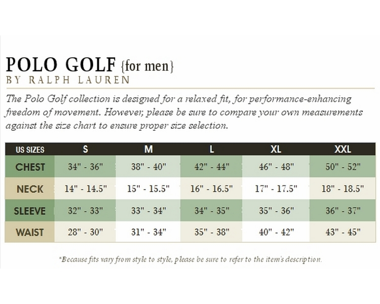 Ralph Lauren Men's Sweaters Size Chart