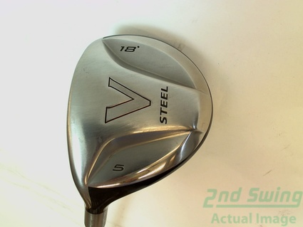 TaylorMade V Steel Fairway Wood 5-Wood 5W 18 Graphite Stiff Left