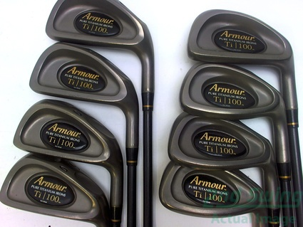 Tommy Armour Titanium 100 Iron Set 3-PW Graphite Regular Right