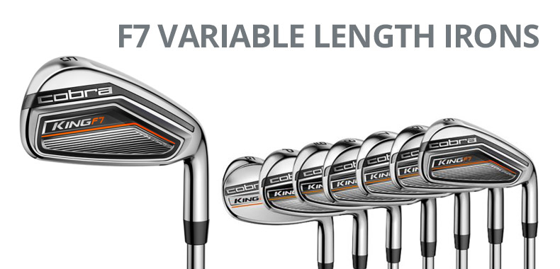 Cobra King F7 Variable Length Irons