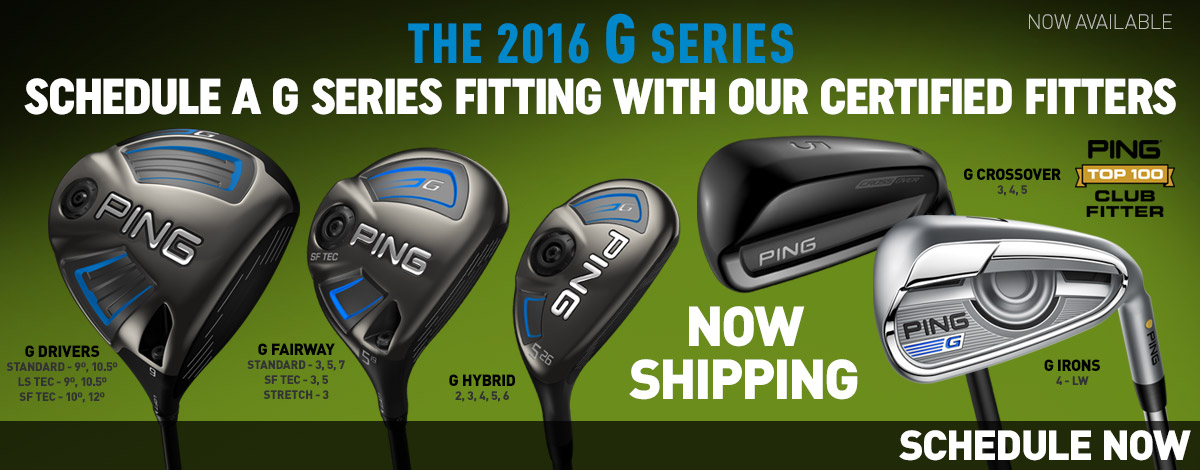 The New Ping G Series of Golf Clubs. 2nd Swing Golf sells new golf clubs.