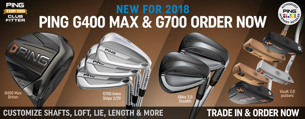 Order the new clubs from PING