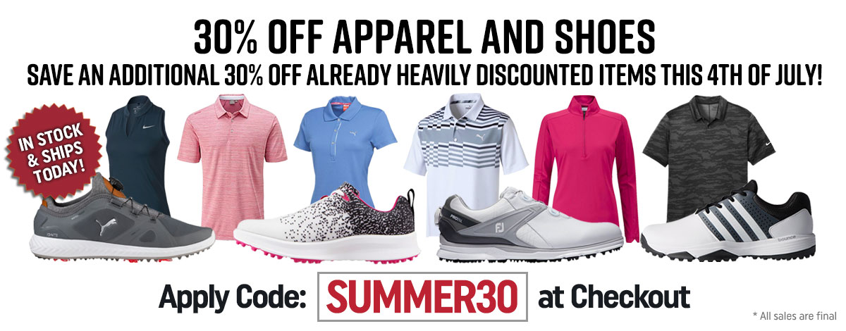 30 OFF Apparel and Shoes